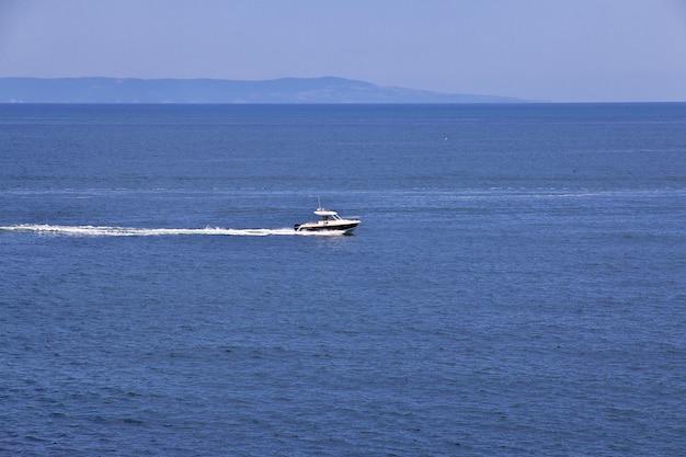 Widok na morze czarne, sozopol, bułgaria