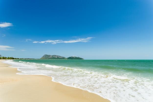 Widok na morze z morza prachuap