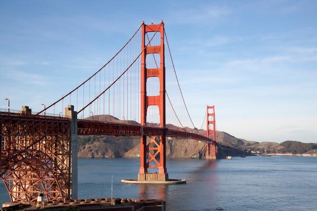 Widok na most golden gate. san francisco, kalifornia, usa