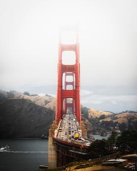 Widok na most golden gate, san francisco, stany zjednoczone
