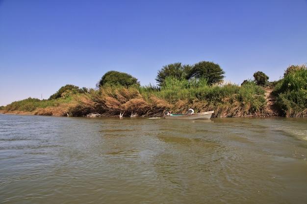 Widok na nil w sudanie