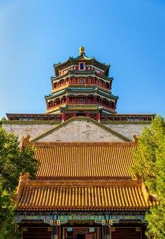 Widok na pałac letni w pekinie, chiny