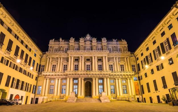 Widok na palazzo ducale w genui, włochy