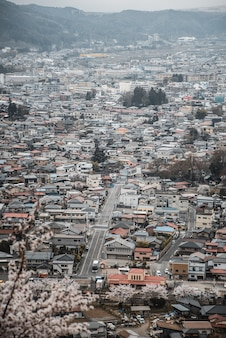Widok na panoramę miasta w ciągu dnia