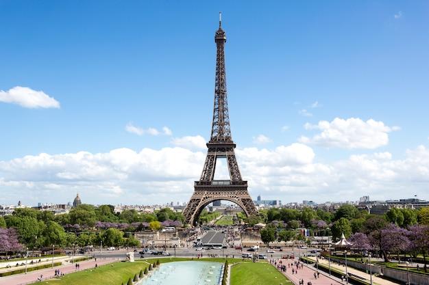 Widok na paryż we francji