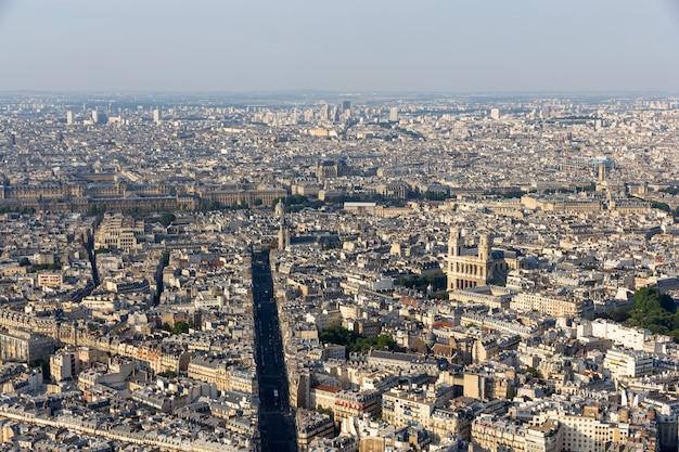 Widok na paryż z wieży maine montparnasse