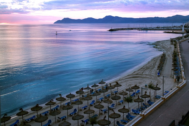 Widok na plażę palma de mallorca