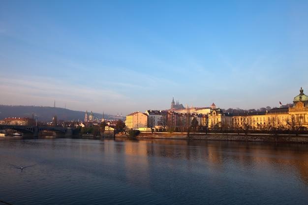 Widok na pragę. republika czeska