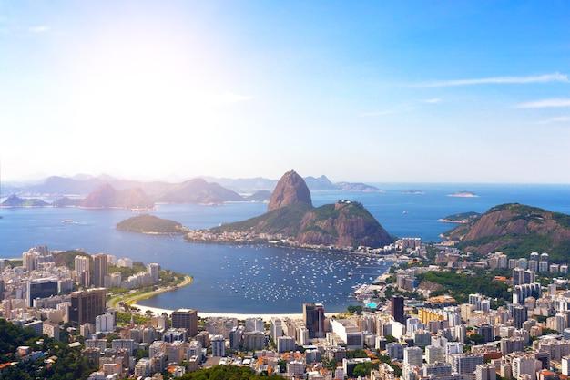 Widok na rio de janeiro i pao de acucar, brazylia