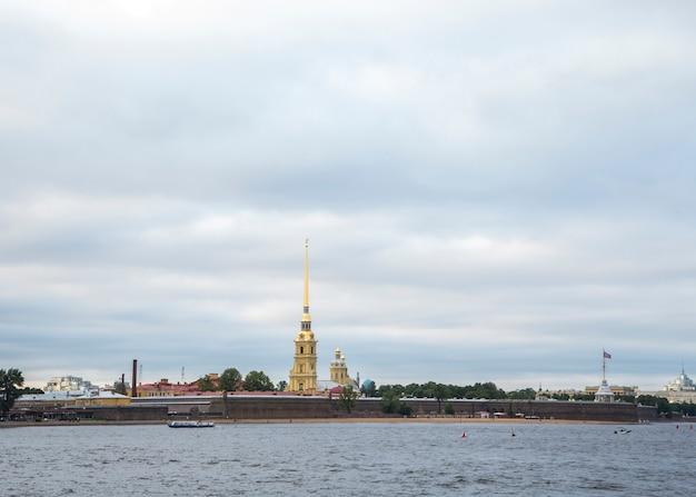 Widok na sankt petersburg, rosja