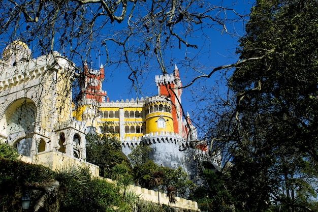 Widok na średniowieczny zamek