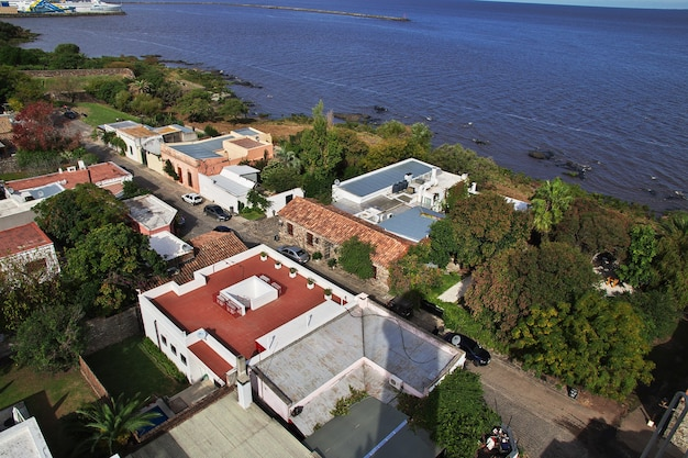 Widok na stare centrum colonia del sacramento w urugwaju