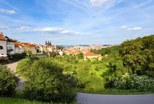 Widok na stare mesto (stare miasto), praga, czechy