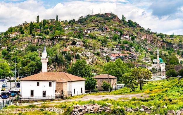 Widok na stare miasto ankary, stolicy turcji