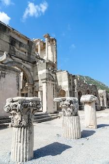 Widok na starożytne miasto efez