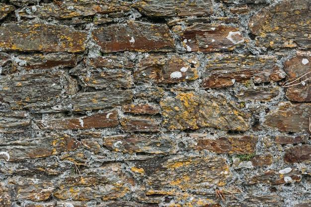 Widok na stary kamienny mur