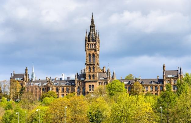 Widok na university of glasgow - scotland
