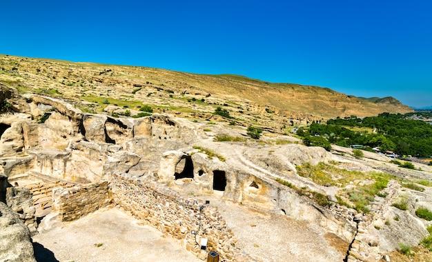 Widok na uplistsikhe, starożytne wykute w skale miasto w gruzji