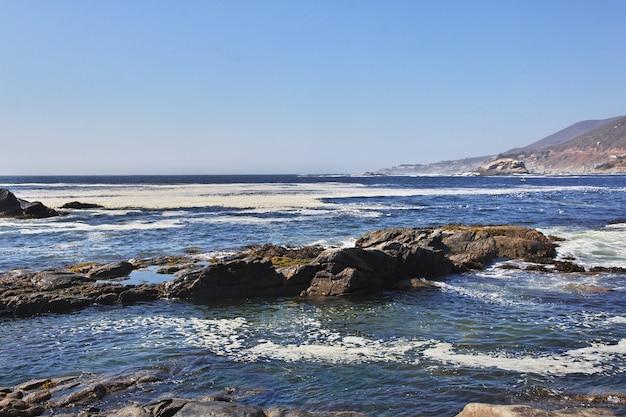 Widok na wybrzeże pacyfiku w chile