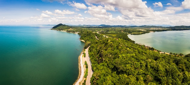 Widok na zatokę tajlandii