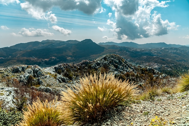 Widok od góry blisko kotor, montenegro