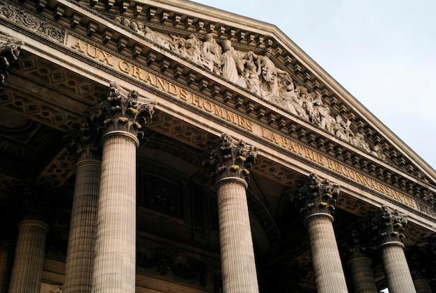 Widok patheon w paryskim francja