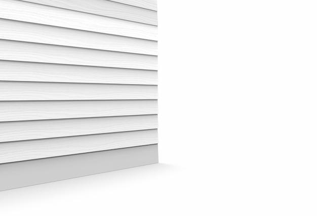 Widok perspektywiczny szarych drewnianych paneli krawędzi tła ściany i podłogi.