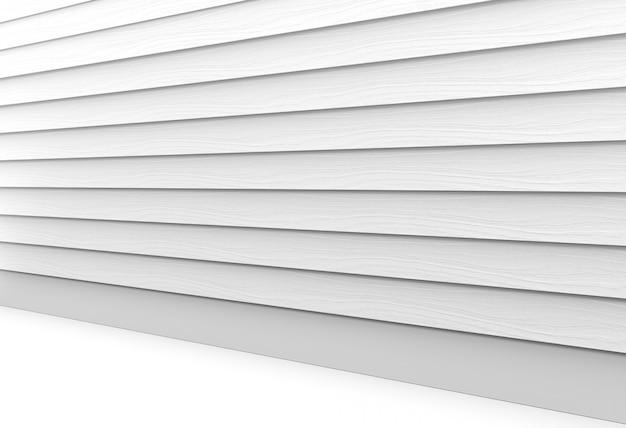 Widok perspektywiczny szarych drewnianych paneli tle ściany i podłogi.