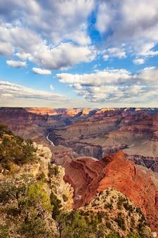 Widok pionowy grand canyon, usa.