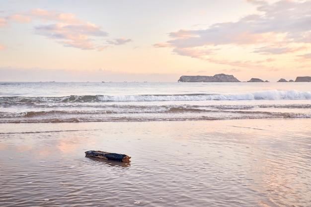 Widok plaży o świcie
