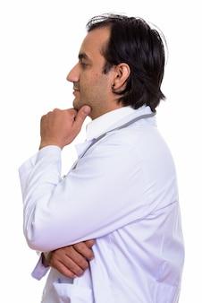 Widok profilu lekarza perskiego myślenia