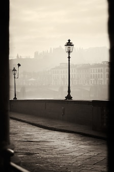 Widok rano nasyp we florencji