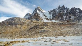 Widok regionu bazowego Everest w grudniu