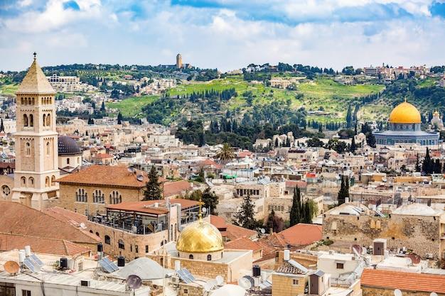Widok starego miasta w jerozolimie