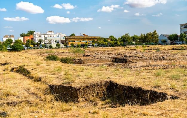 Widok starożytnych ruin w merida hiszpania