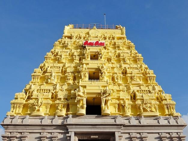 Widok świątyni arulmigu ramanathaswamy w rameshwaram w indiach