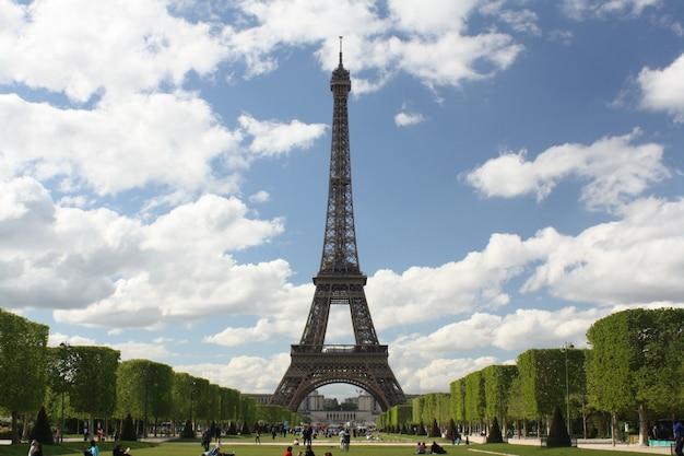 Widok wieża eiffla