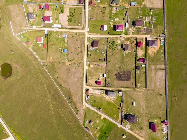 Widok wioski z góry
