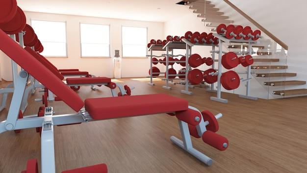 Widok wnętrza siłowni