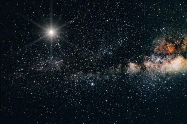Widok wszechświata z kosmosu. elementy tego obrazu dostarczone przez nasa