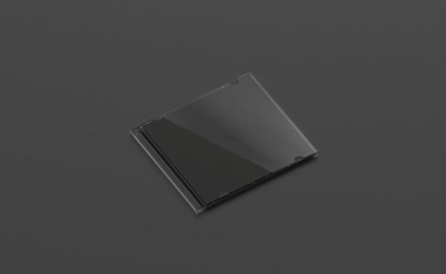 Widok z boku obudowy pusty czarny zamknięty dysk na białym tle