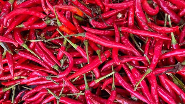 Widok z czerwonej papryki chili tekstura tło.
