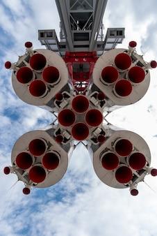 Widok z dołu radzieckiej rakiety wostok