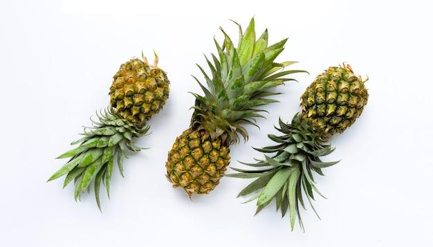 Widok z góry ananasa
