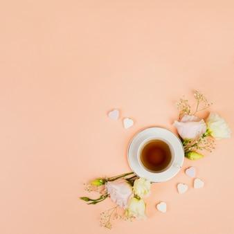 Widok z góry angielskiej herbaty