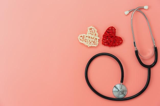 Widok z góry anteny akcesoriów opieki zdrowotnej i medycznej.