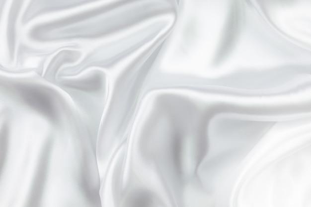 Widok z góry białej tekstury jedwabiu