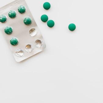Widok z góry blister tabletek
