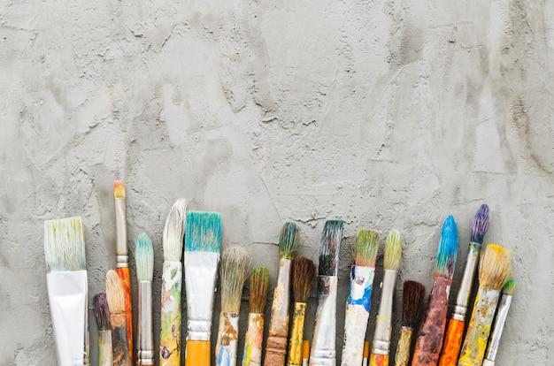 Widok z góry brudna linia ołówka