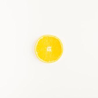 Widok z góry cytryny